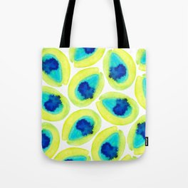 Electric Avocados Tote Bag