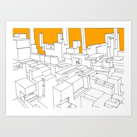 1.01 b&w&o Art Print