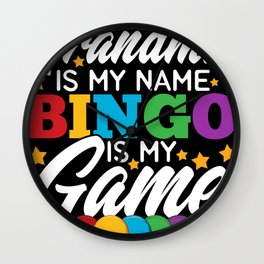 Bingo Game For Grandma Wall Clock