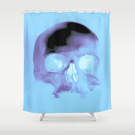 Cyan Skull Shower Curtain