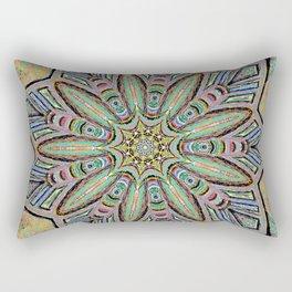 Stained Glass Window - Mandala Art Rectangular Pillow