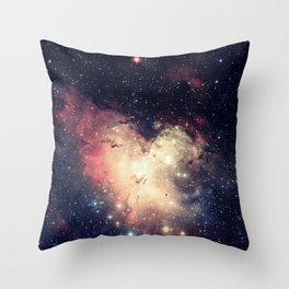 Deep Pastels Galaxy Space Sparkle Throw Pillow