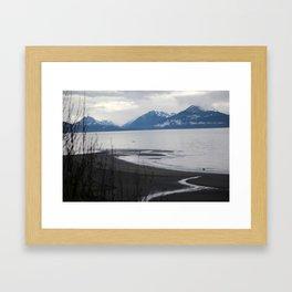 Solitude :: A Lone Kayaker Framed Art Print
