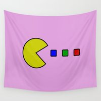 pacman Wall Tapestries featuring Pacman by ArtSchool