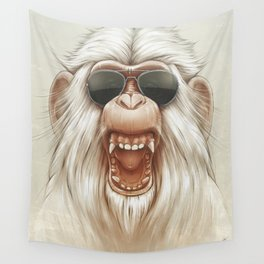 The Great White Angry Monkey Wall Tapestry