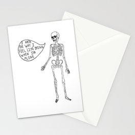 Joyce Manor Skeleton Stationery Cards