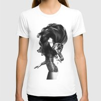 hair T-shirts featuring Bear #3 by Jenny Liz Rome