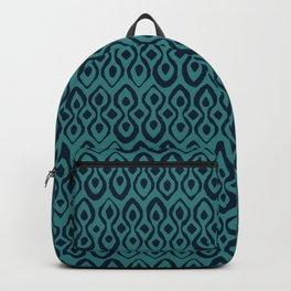 brocade indigo blue Backpack