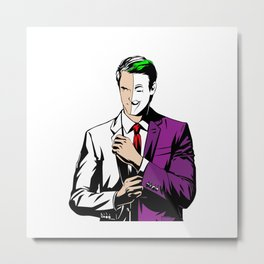 The Two Face Metal Print