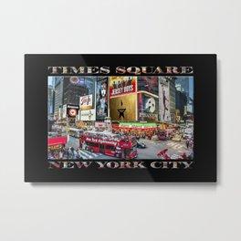 Times Square II (widescreen on black) Metal Print