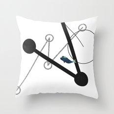 undulate geometric with whale Throw Pillow