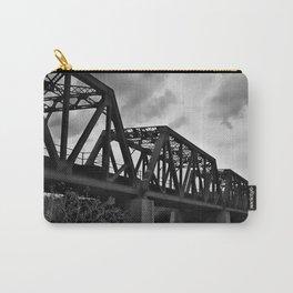 Train Bridge (Black & White) Carry-All Pouch
