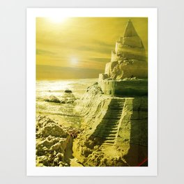 I want to live in a Castle. Art Print
