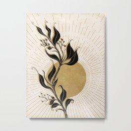 Mystical Sun Metal Print