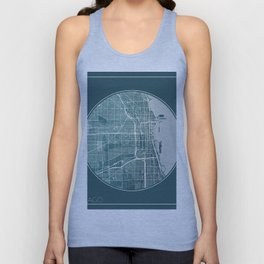 Chicago Map Planet Unisex Tank Top