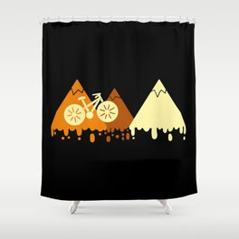 Cycling for the World Shower Curtain