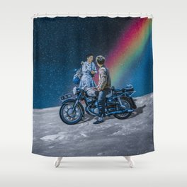 Drive me to the earth Shower Curtain