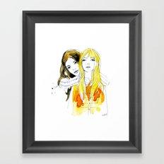 E and Gabrielle Framed Art Print