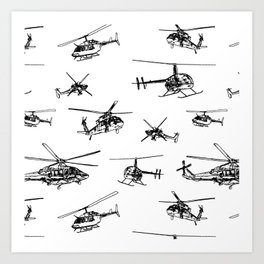 Helicopters Art Print