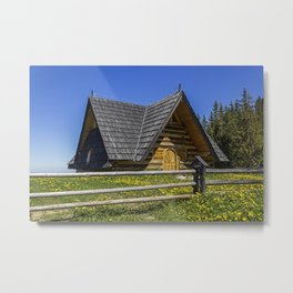 Wooden Home. Metal Print
