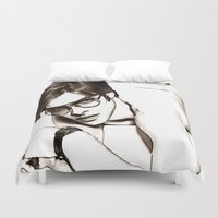 tom selleck Duvet Covers featuring Tom Ford by arnedayan