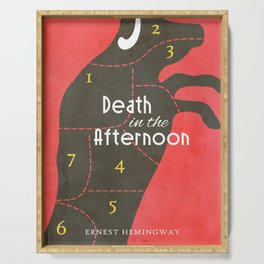 Death in the Afternoon, Erenst Hemingway, book cover, classic novel, bullfighting stories, Spain Serving Tray