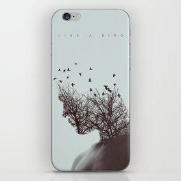 Like a bird iPhone Skin