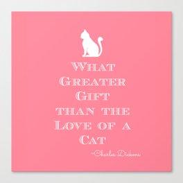 Dickens Cat Quote Canvas Print