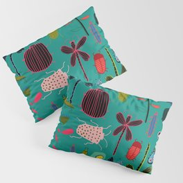 bugs and insects green Pillow Sham