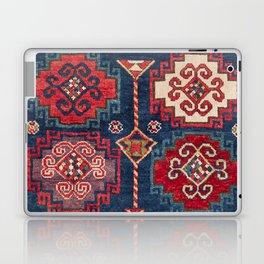 Royal Blue Red Kazak 19th Century Authentic Colorful El Paso Vibes Vintage Patterns Laptop & iPad Skin