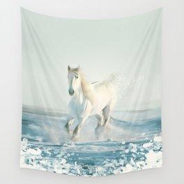 running horse Wall Tapestry