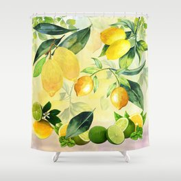 In the Lemon Orchard Shower Curtain