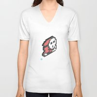 nintendo V-neck T-shirts featuring Nintendo #4 by Dabwood2