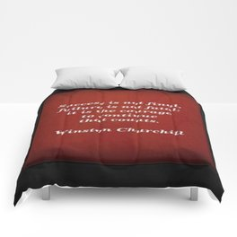 Winston Churchill Success Quote Comforters