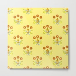 Waffle and Syrup (Yellow Cake Fluff) Metal Print