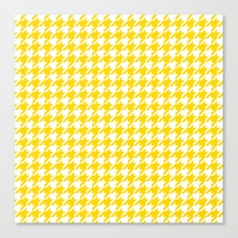 Gold Yellow Houndstooth Pattern Canvas Print