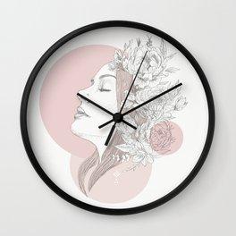 love smells like peony Wall Clock