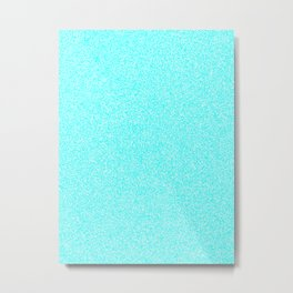 Melange - White and Aqua Cyan Metal Print