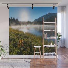 Morning Glory - Sunrise at Mountain Lake in Colorado Wall Mural