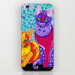 Designer Cats iPhone Skin