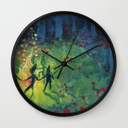 midsummer's gloam Wall Clock
