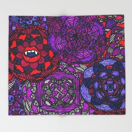 Spooky Flowers Throw Blanket