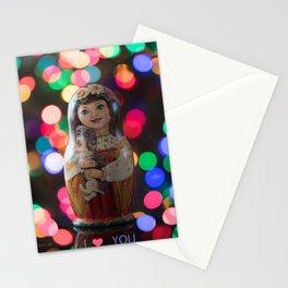 Valentines Day Matryoshka Nesting Doll Valentines Day Matryoshka Nesting Doll Stationery Cards