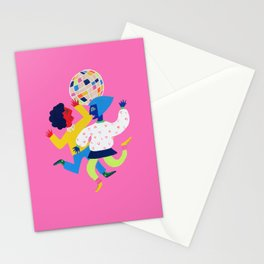 Neon Disco Stationery Cards