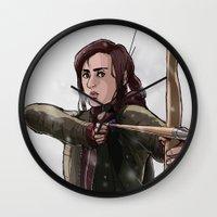 ellie goulding Wall Clocks featuring ELLIE by Яussia