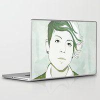 tegan and sara Laptop & iPad Skins featuring Tegan by GirlApe