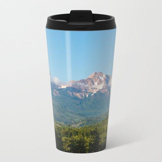 Sunny Mountain Summer Metal Travel Mug
