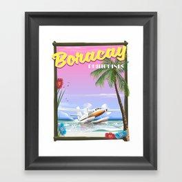 Boracay Philippines beach Framed Art Print