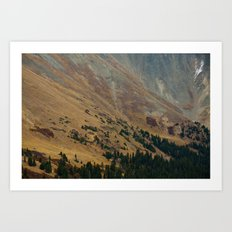 warm valley Art Print