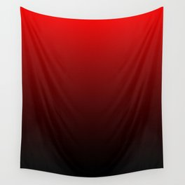 Red and Black Gradient Wall Tapestry